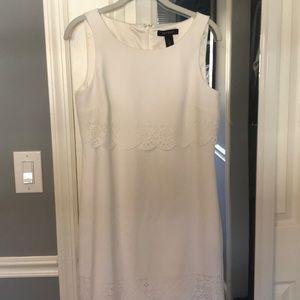 White House Black Market White Midi Dress